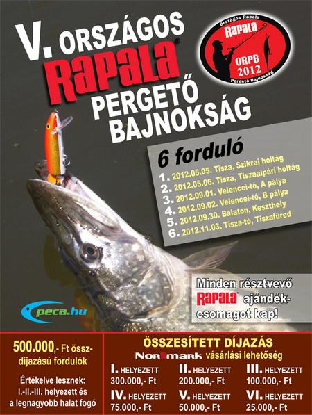 Országos Rapala Pergető Bajnokság záró fordulója a Tisza tavon