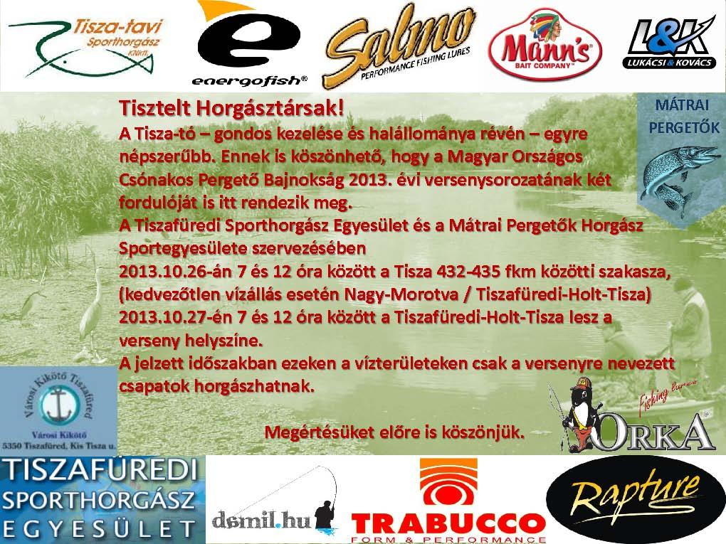 Pergető Országos bajnokság a Tisza tavon