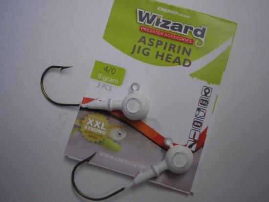 ET Wizard Aspirin Jig . Az Energofish új jigfeje kiváló tartást biztosít a fárasztás során