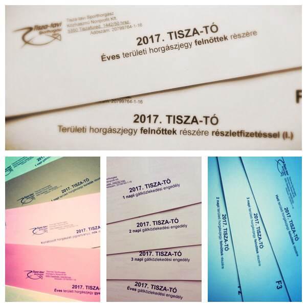Megérkeztek a 2017 évi Tisza tavi jegyek