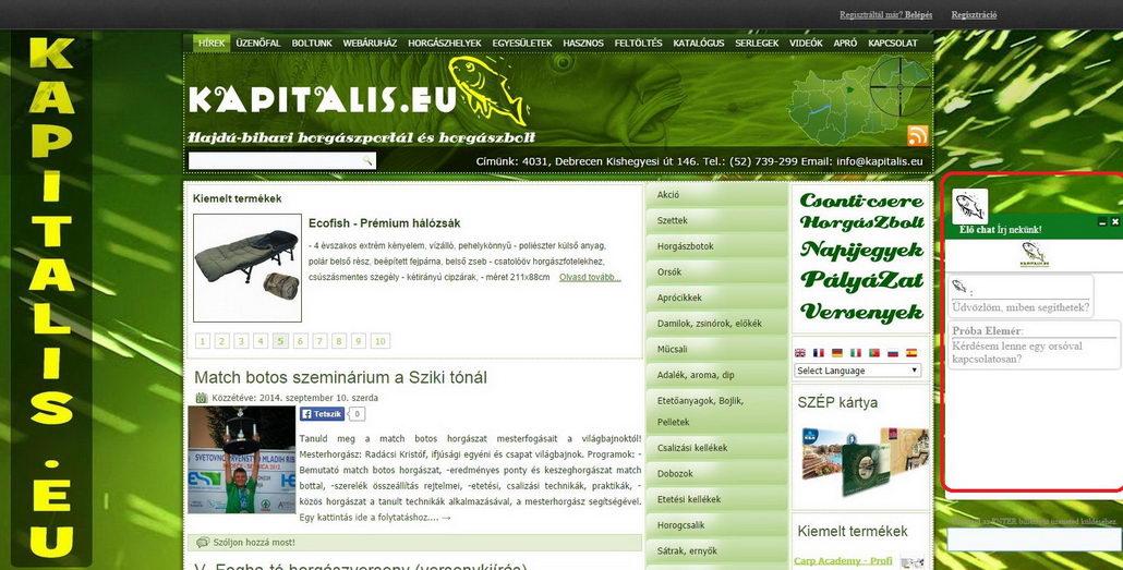 Új funkció weboldalunkon – Élő chat