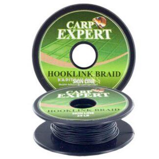 Carp Expert skin line bevonatos fonott bojlis előke (Pitch Black)