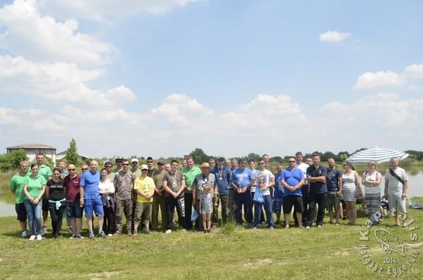 KAPITÁLIS Horgász Egyesület versenyen résztvevő tagjai