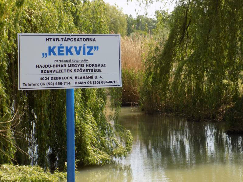 Tájékoztatás a HTVR-tápcsatorna (KÉKVÍZ) horgászatával kapcsolatban