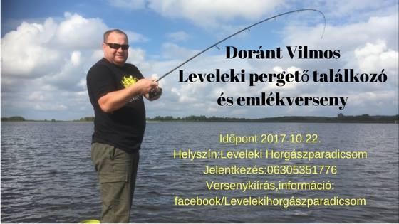 Doránt Vilmos pergető csónakos emlékverseny a Leveleki víztározón (versenykiírás)