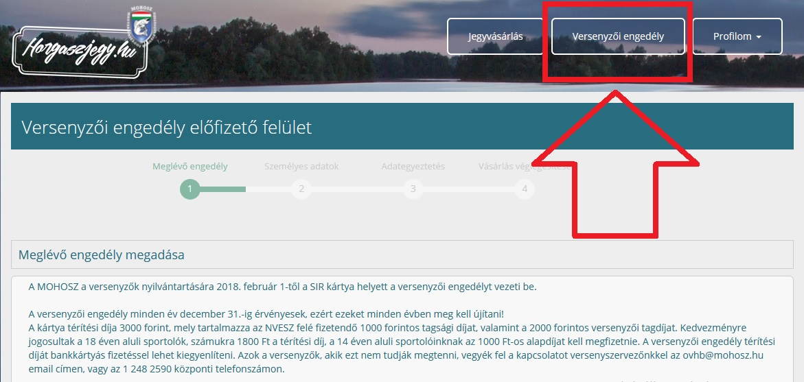 Megnyílt a Versenyzői engedélyek regisztrációja