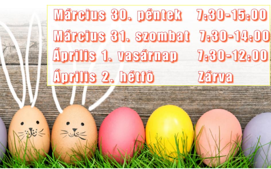 Húsvéti nyitva tartásunk