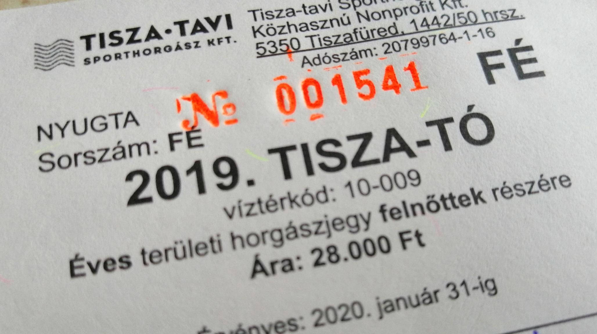 Megérkeztek üzletünkbe a Tisza tavi jegyek