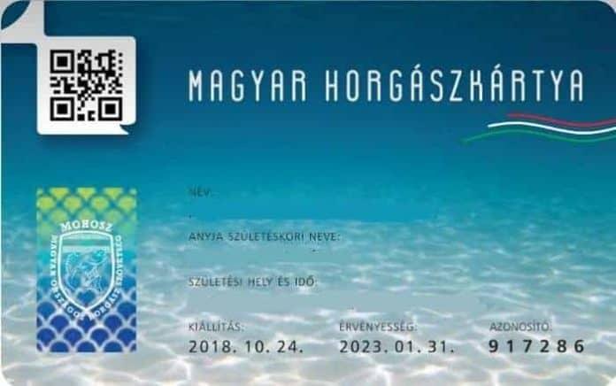 Horgászkártya regisztráció a Megyei Szövetségnél