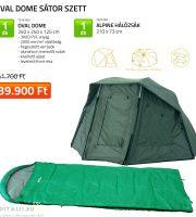Carp Academy Oval Dome sátor+hálózsák szett