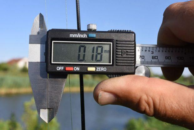 A főzsinórunk 0,18-as átmérőjű.