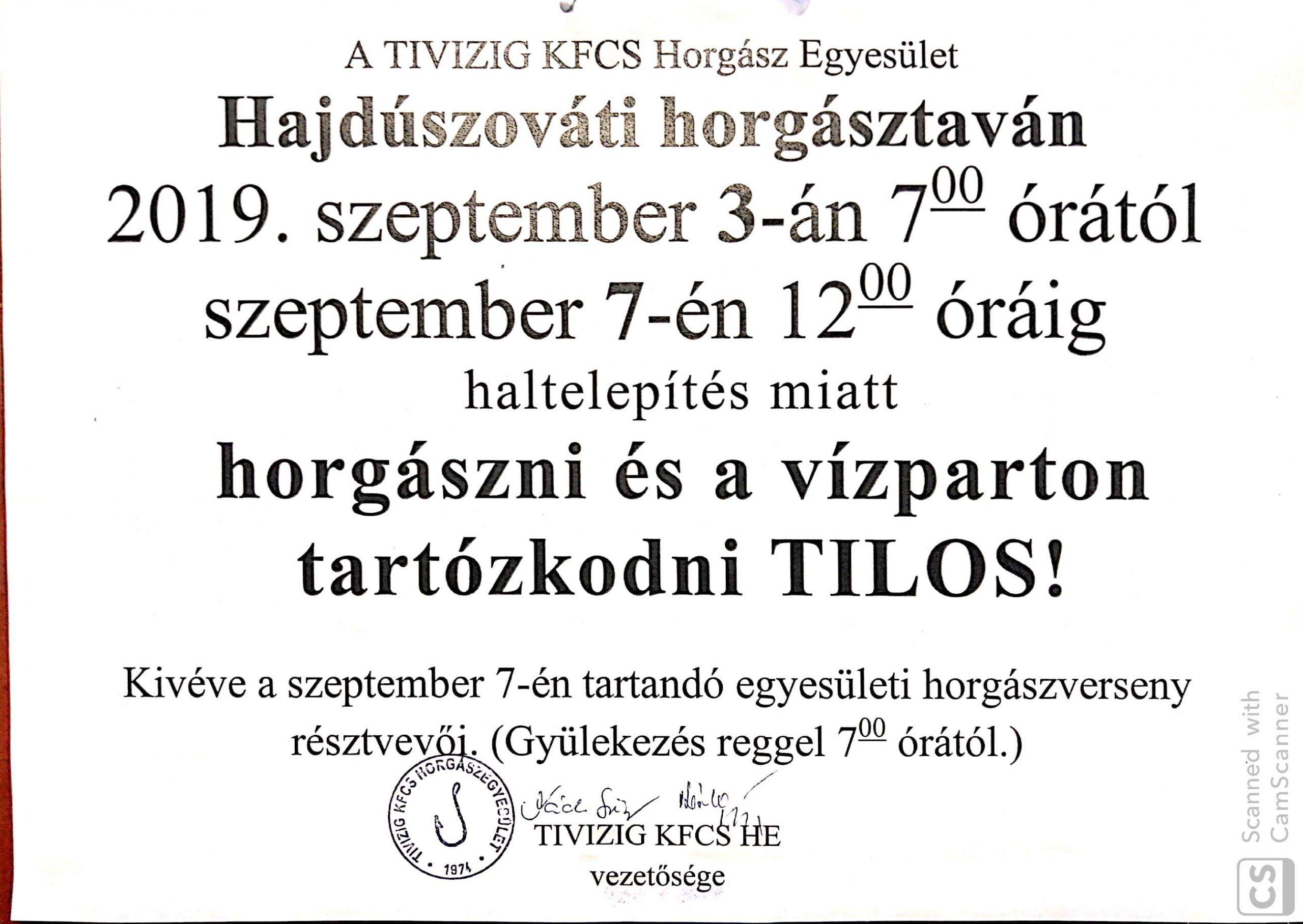 TIVIZIG KFCS HE telepítése a Szováti víztározóba