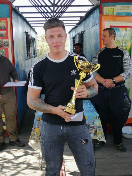 1. helyezett Szabó Bence (116cm 3db)