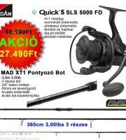 Páros AKCIÓ DAM Quick 5 SLS 5000 FD + MAD XT1 3,6M 3,00LBS 3R