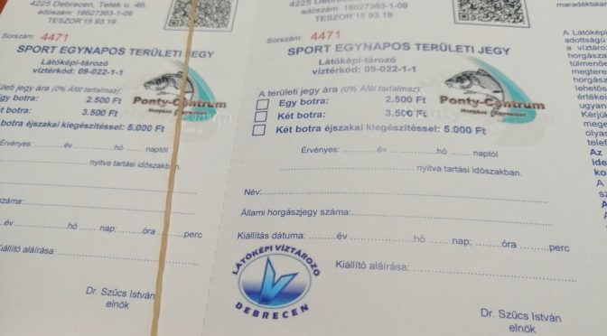 Elérhetőek üzletünkben a Látóképi víztározó jegyei