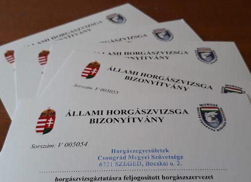 Horgászvizsga 2020. november 12. csütörtök 14:00 Debrecenben