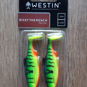 Westin Ricky the Roach Shadtail 7cm 6g Firetiger 2pcs