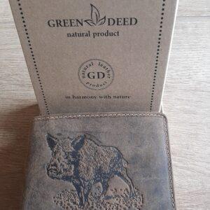 GreenDeed pénztárca vaddisznó mintával