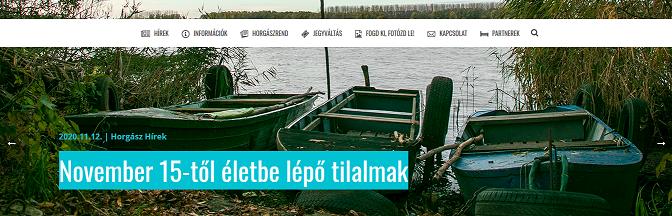 November 15-től életbe lépő tilalmak a Tisza tavon
