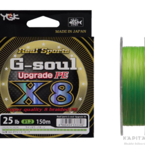 YGK G-soul X8 Upgrade PE 0,165mm fonott zsinór (fluo zöld)