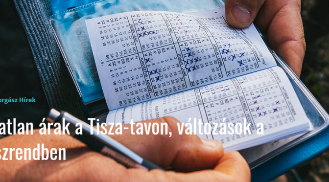 Változatlan árak a Tisza-tavon, változások a horgászrendben